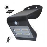 LED'S LIGHT LED SOLAR LAMP MET SENSOR ZWART