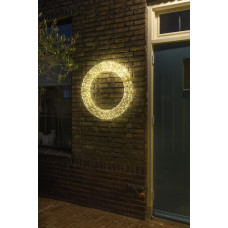 CHRISTMAS UNITED KRANS GOUD 75CM 2000 LED WARMWIT