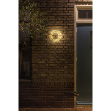 CHRISTMAS UNITED KRANS GOUD 40CM 600 LED WARMWIT