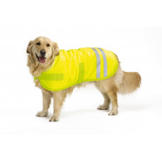 SAFETY GEAR HONDENJAS TEDDIE REFLECTIE GEEL